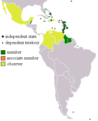 CARICOM (member, ass.member and observer)