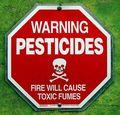 Warning pesticides
