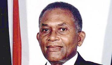 Trinidad former prime minister Arthur Robinson