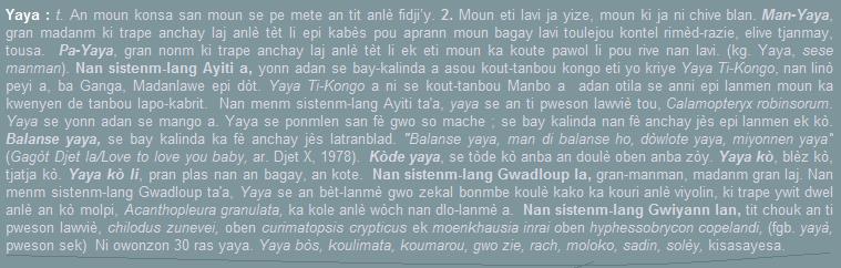 Yaya, an moun konsa san moun se pe mete an tit anlè fidji'y.