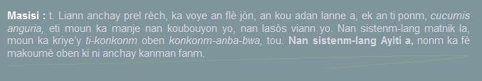 Masisi  cucumis-anguria  ti-konkonm oben konkonm anba-bwa