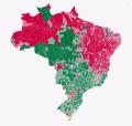 Rojo-Haddad verde-Bolsonaro azul-Ciro Gomes