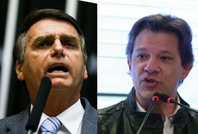 Brazil bolsonaro e haddad no segundo turno