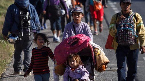 Caravana de migrantes 800 menores