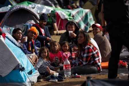 Caravana de migrantes menores