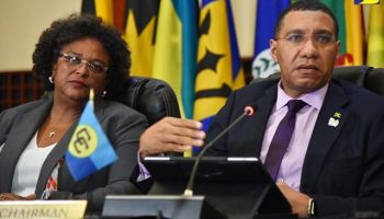CARICOM heads PMs-Mottley-and-Holness-at-Press-Conference