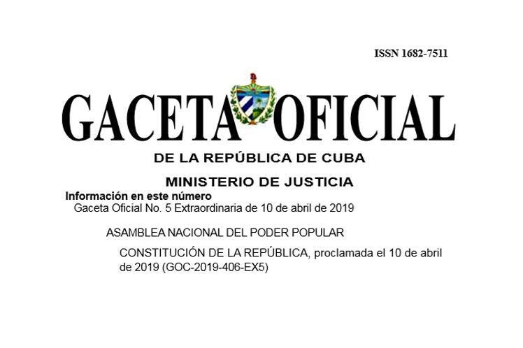 Cuba Caceta oficial