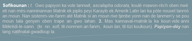 Sofikounan  gwo papiyon lannwit  ascalapha odorata 2. Mas kannaval-matnik