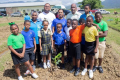 BreadfruitTrees Maharaj and Wayne ganpat dean of UWI with primary School