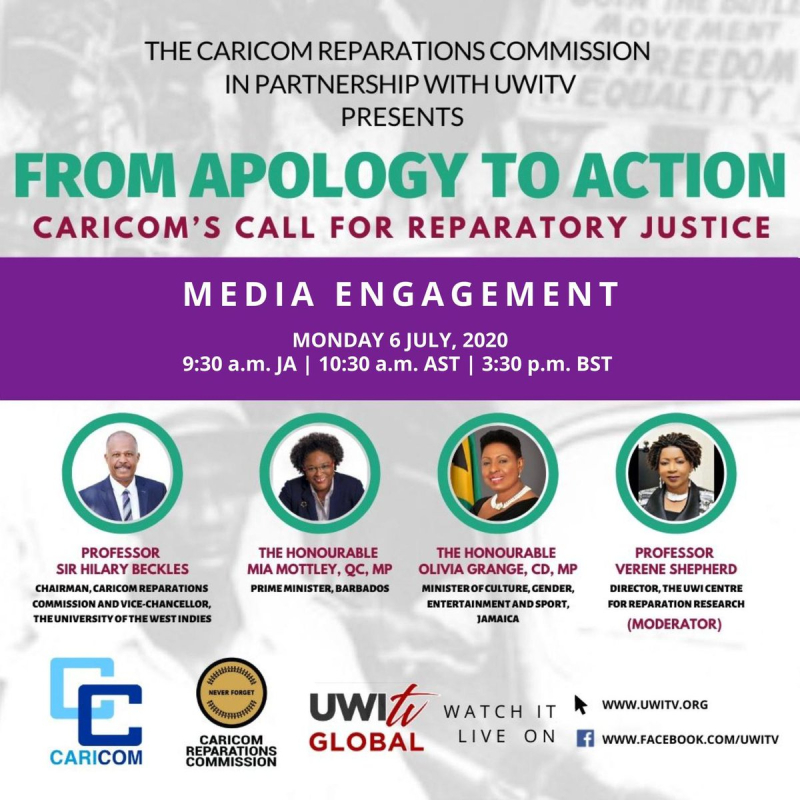 CARICOM Reparations Commission. from apologizes to action