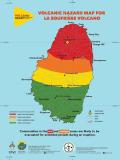 St Vincent La Soufriere volcano volcanic hazard map