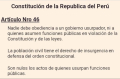 Perou articulo 46