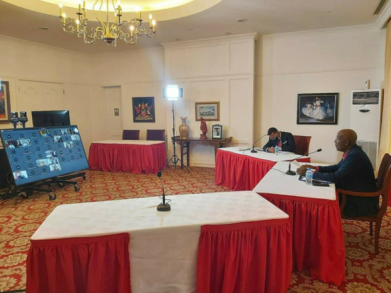 CARICOM PM-Rowley-at-Heads-Meeting