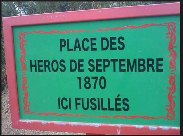 Gloriye Sèptanm 1870 place héros