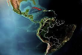 América Latin y el Caribe la mapa colorada