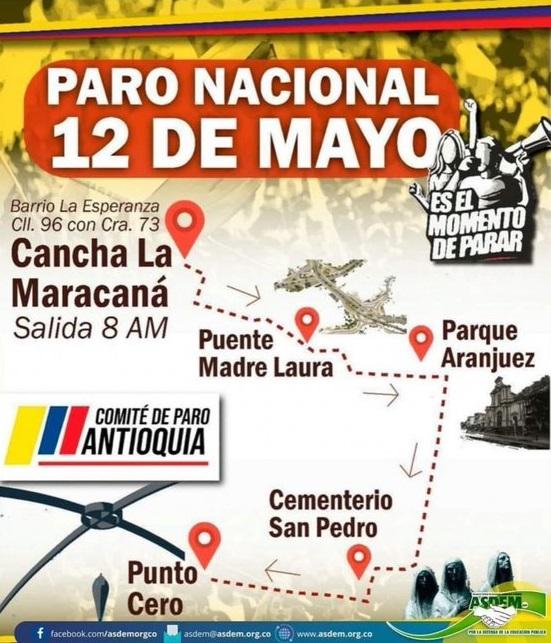 Colombia paro nacional 12 de mayo